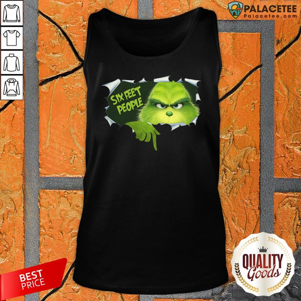 Official Grinch Six Feet People Tank Top-Design By Palacetee.com