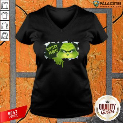 Official Grinch Six Feet People V-neck-Design By Palacetee.com