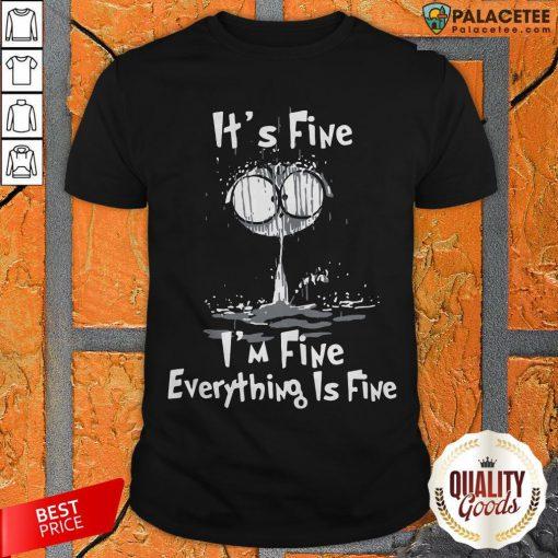 Official I'm Fine Cat I'm Fine Everything's Fine Shirt