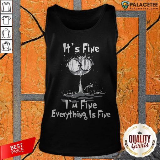 Official I'm Fine Cat I'm Fine Everything's Fine Tank Top