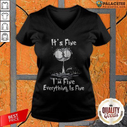 Official I'm Fine Cat I'm Fine Everything's Fine V-neck