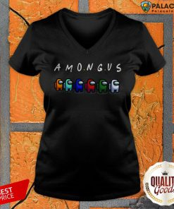 Premium Among Us And Friends V-neck