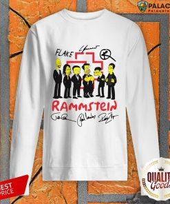 Rammstein Simpsons Style Signatures Sweatshirt
