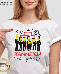 Rammstein Simpsons Style Signatures V-neck