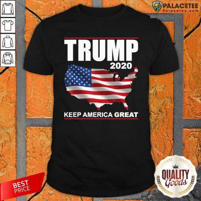Trump 2020 USA Flag Keep America Great Vote Trump Gift T-Shirtc