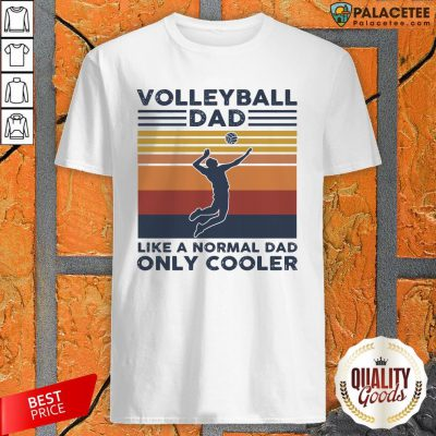Vintage Volleyball Dad Like A Normal Dad Only Cooler Shirt