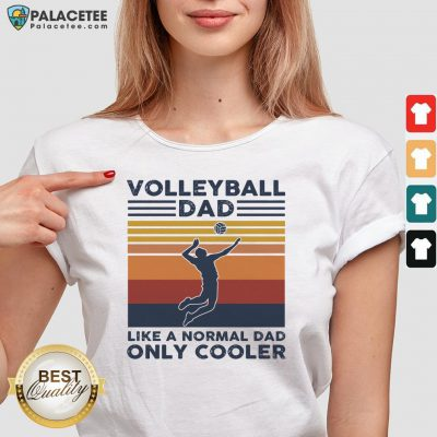 Vintage Volleyball Dad Like A Normal Dad Only Cooler V-neck