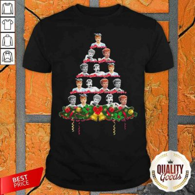 Awesome Lucille Ball Christmas Tree Shirt-Design By Palacetee.com
