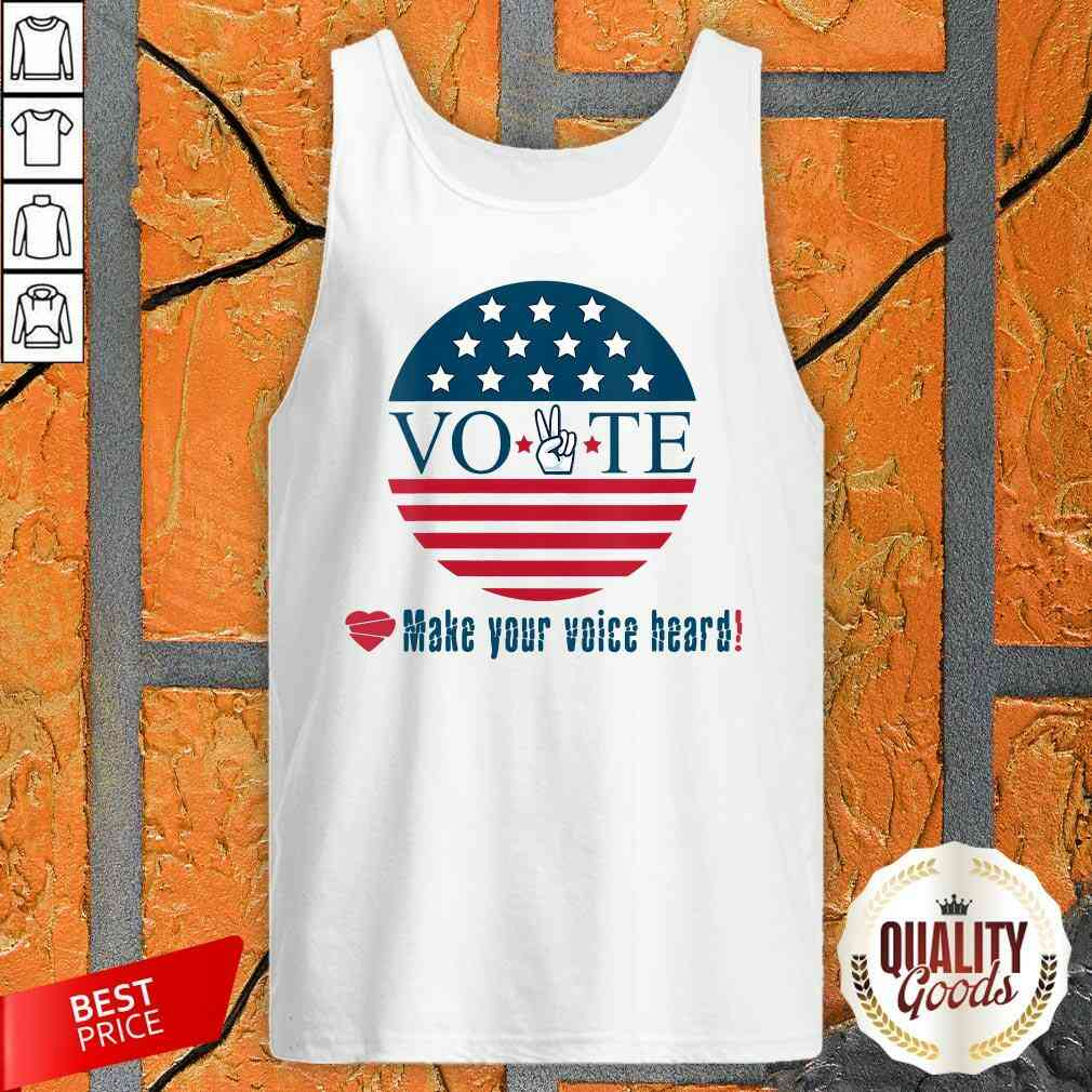 Awesome Make Your Voice Heard Vote Election Heart Tank Top-Design By Palacetee.com