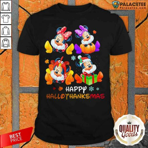 Funny Disney Mickey Mouse Happy Hallothanksmas Shirt-Design By Palacetee.com