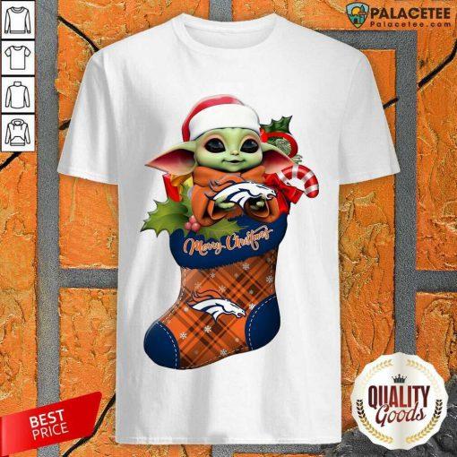 Baby Yoda Hug Denver Broncos Ornament Merry Christmas 2020 Shirt-Design By Palacetee.com