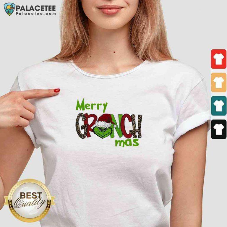 Good Merry Grinchmas Christmas V-neck-Design By Palacetee.com