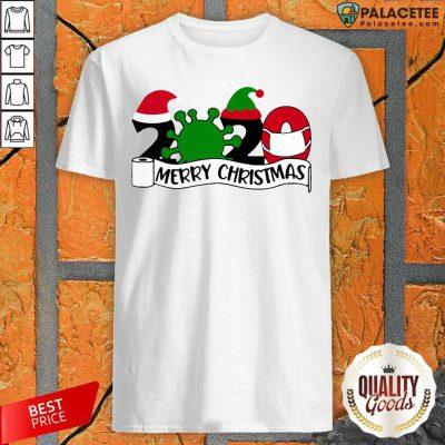 2020 Mask Quarantine Toilet Paper Merry Christmas Shirt-Design By Palacetee.com