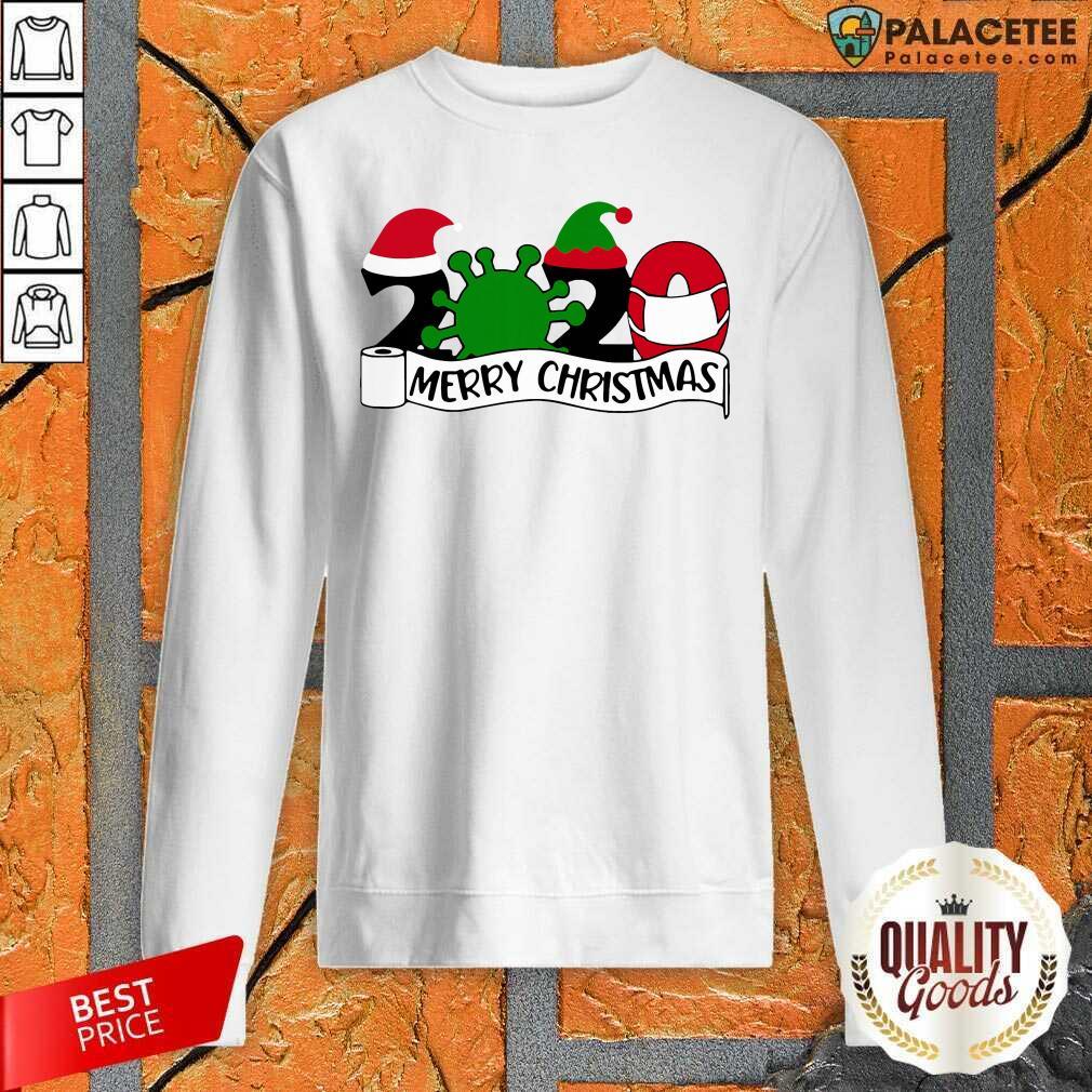 2020 Mask Quarantine Toilet Paper Merry Christmas Sweatshirt-Design By Palacetee.com