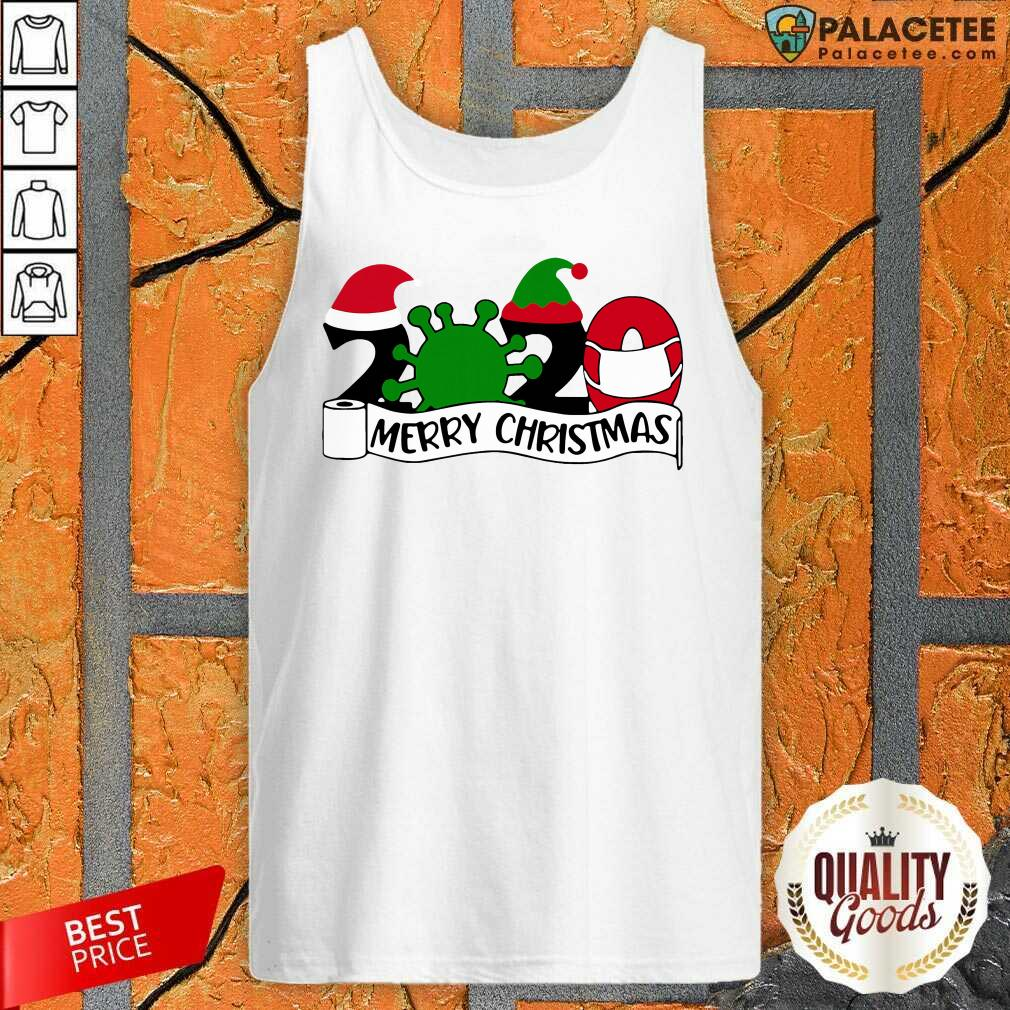 2020 Mask Quarantine Toilet Paper Merry Christmas Tank Top-Design By Palacetee.com