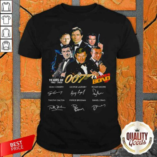 James Bond 50 Years Of 007 1962 2020 Signatures Shirt-Design By Palacetee.com