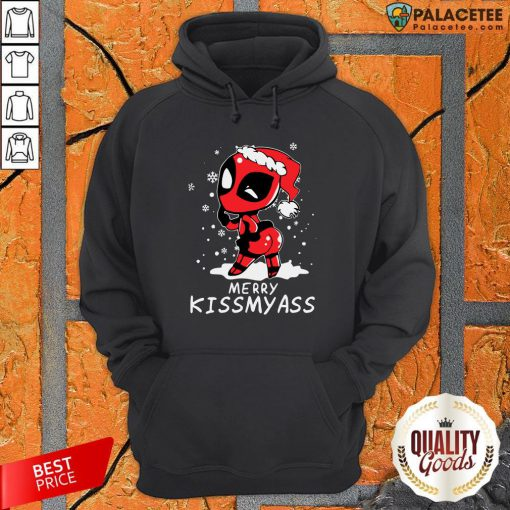 Merry Kiss My Ass Deadpool Christmas 2021 Hoodie-Design By Palacetee.com