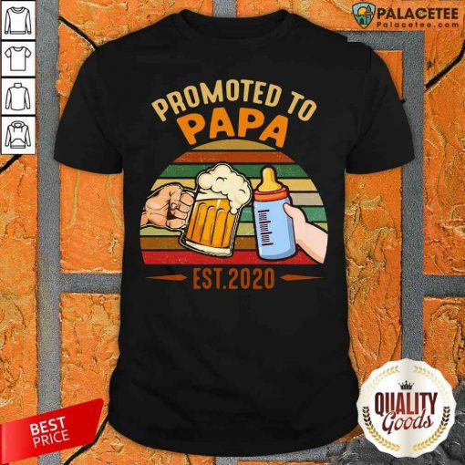 Nice Promoted To Papa Shirt-Design By Palacetee.com