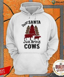 Premium Dear Santa Just Bring Cows Tree Hoodie-Design By Palacetee.com