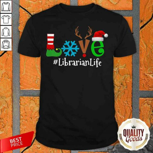 Pretty Love Snow Elf Reindeer Librarian Life Christmas Shirt-Design By Palacetee.com