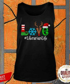 Pretty Love Snow Elf Reindeer Librarian Life Christmas Tank Top-Design By Palacetee.com