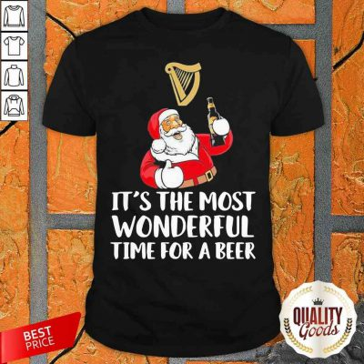 Santa Drink Guinness Beer It'S The Most Wonderful Time For A Beer Shirt-Design By Palacetee.com