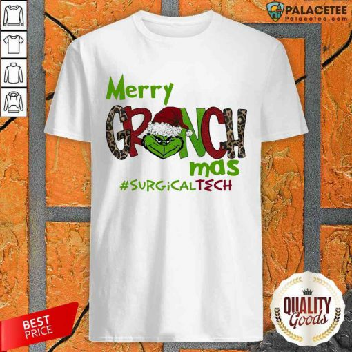 Top Merry Grinchmas Surgical Tech Christmas Shirt-Design By Palacetee.com