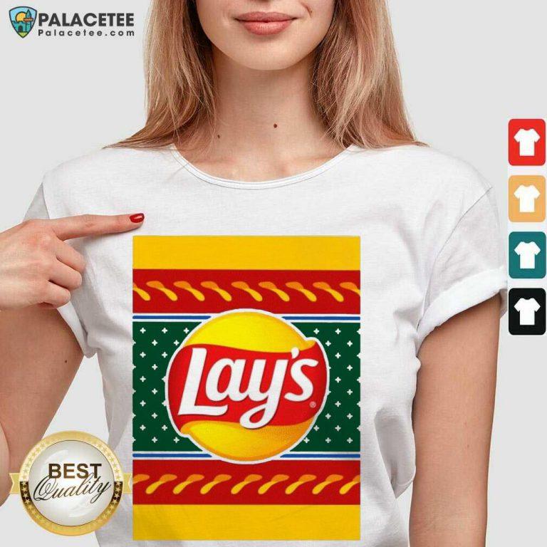 Logo Lays Christmas 2020 V-neck-Design By Palacetee.com
