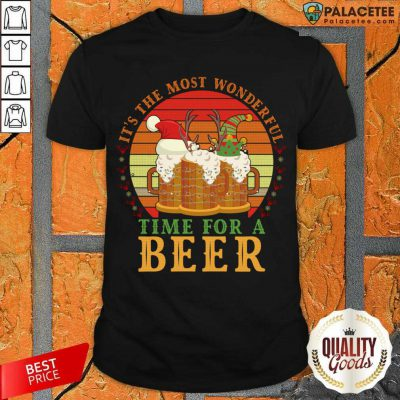 It's The Most Wonderful Time For A Beer Shirt-Design By Palacetee.com