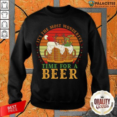 It's The Most Wonderful Time For A Beer Sweatshirt-Design By Palacetee.com