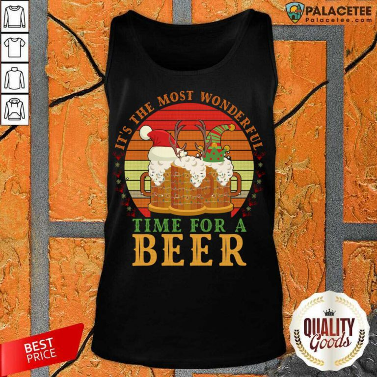 It's The Most Wonderful Time For A Beer Tank Top-Design By Palacetee.com