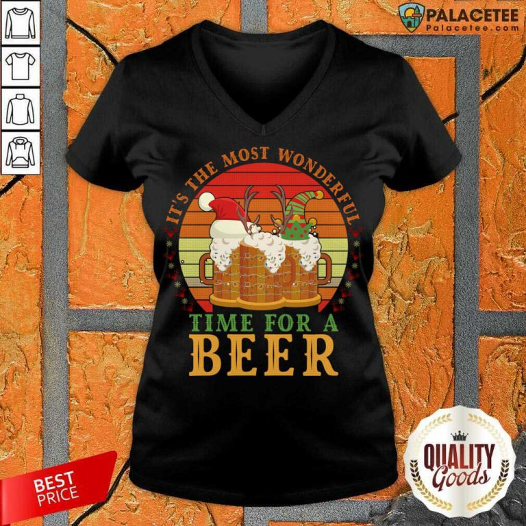 It's The Most Wonderful Time For A Beer V-neck-Design By Palacetee.com