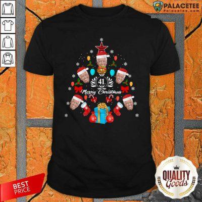 Joe Biden Christmas Tree 41th Merry Christmas Shirt-Design By Palacetee.com