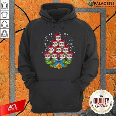 Owls Merry Christmas Tree Animal Hoodie-Design By Palacetee.com