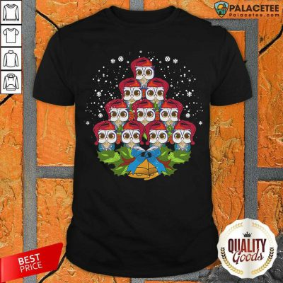 Owls Merry Christmas Tree Animal Shirt-Design By Palacetee.com