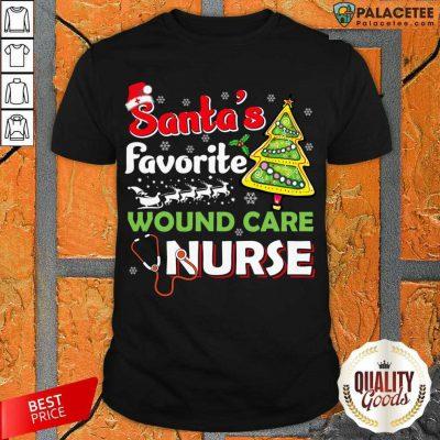 Santa's Favorite Wound Care Nurse Christmas Shirt-Design By Palacetee.com