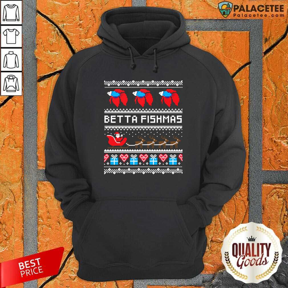 Betta Fishmas Ugly Christmas Hoodie-Design By Palacetee.com