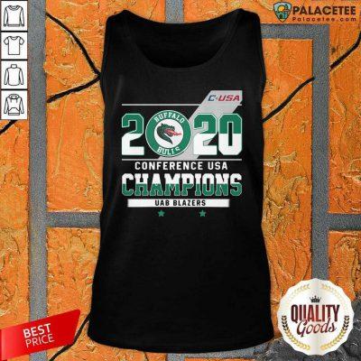C Usa 2020 Buffalo Bulls Conference Usa Champions Uab Blazers Tank Top-Design By Palacetee.com
