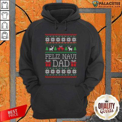 Feliz Navidad Ugly Merry Christmas Hoodie-Design By Palacetee.com