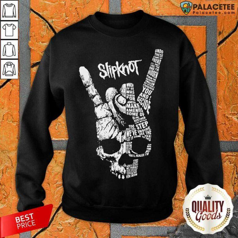 Rock Hand Skull Slipknot Sweatshirt-Design By Palacetee.com