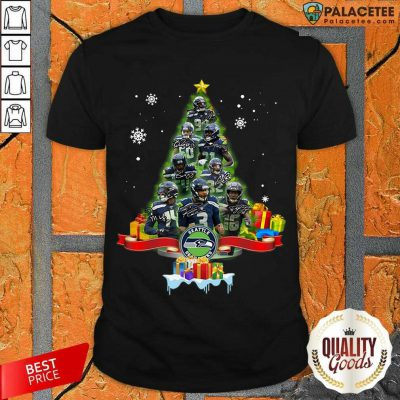 Seattle Seahawks Player Signatures Christmas Tree Shirt-Design By Palacetee.com