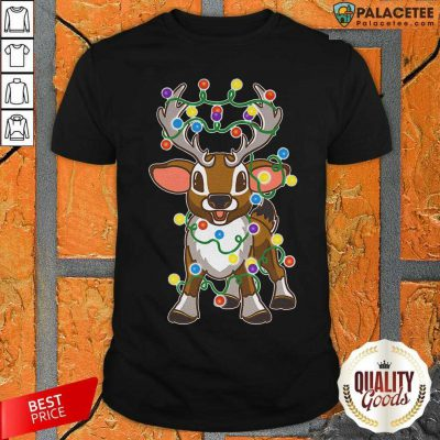 Reindeer Light Merry Christmas Shirt-Design By Palacetee.com