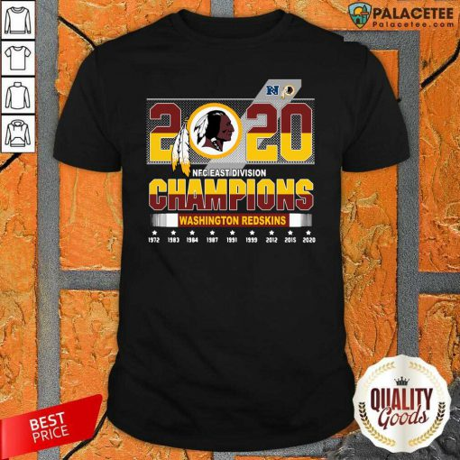 2020 NFC East Division Champions Washington Redskins Shirt-Design By Palacetee.com