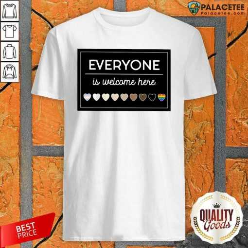 Everyone Is Welcome Here LGBT Shirt-Design By Palacetee.com