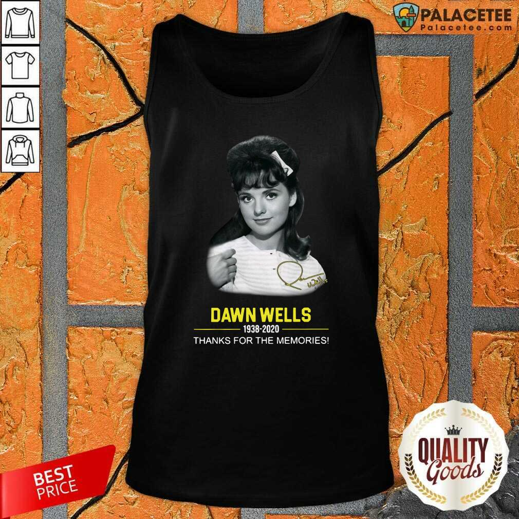 Dawn Wells 1983 2020 Thank You For The Memories Signature Tank Top-Design By Palacetee.com
