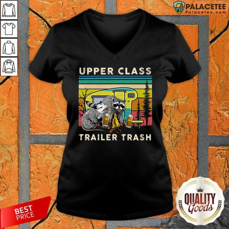 Excellent Raccoons And Opossums Upper Class Trailer Trash V-Neck