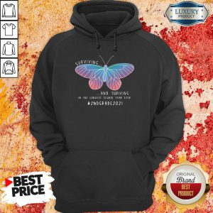 Butterfly Surviving And Thriving In The Longest School Year Ever 2nd Grade 2021 Hoodie
