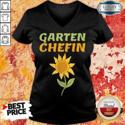 Hot Sonnenblume Garten Chefin V-neck